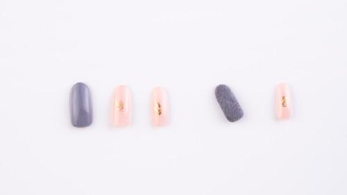 15シンプル ¥10500 ワンカラー+箔+ベルベット素材+色かえ